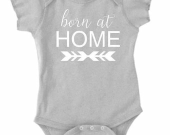 Born at home onsie homebirth crunchy mama natrual birth baby onsie coming home outfit midwife birth baby bodysuit