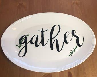 Serving platter GATHER ceramic oven safe dishwasher safe