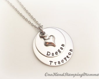 Hand Stamped Jewelry - Personalized Necklace - Personalized Mom Necklace - Hand Stamped Necklace - Nana Necklace
