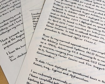 Writing Service Using a Traditional Dip Pen and Indian Ink - handwritten letter service, calligraphy available
