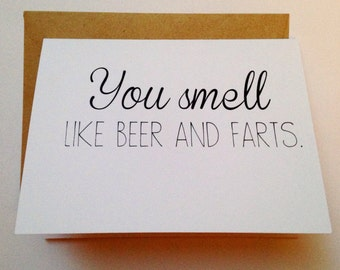 Funny Valentine - I Love You Card - Funny Love Card - Spouse Card - Humor Valentine - Beer Card