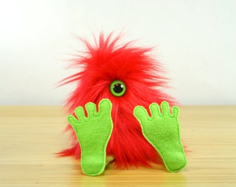 Nervous Nelly Plush Monster Toy- Red