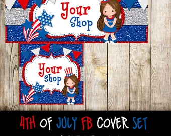 4th of July- Facebook Cover Set