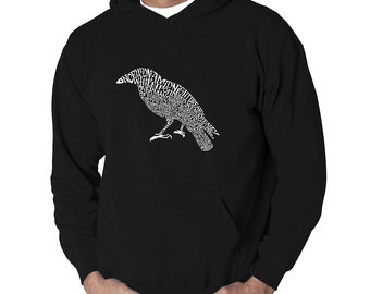 Men's Hooded Hooded Sweatshirt - Created Using the First Few Lines from Edgar Allen Poe's The Raven