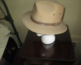 Very Nice Vintage Fedora Style Hat Size L / Sima Int Made in USA
