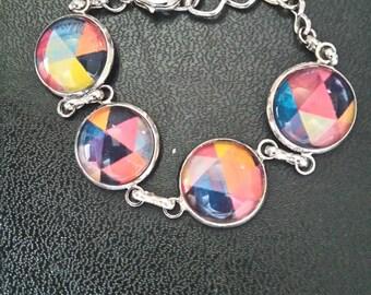 retro geometric pattern bracelet