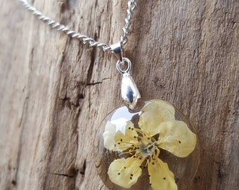 Cherry blossom circle necklace