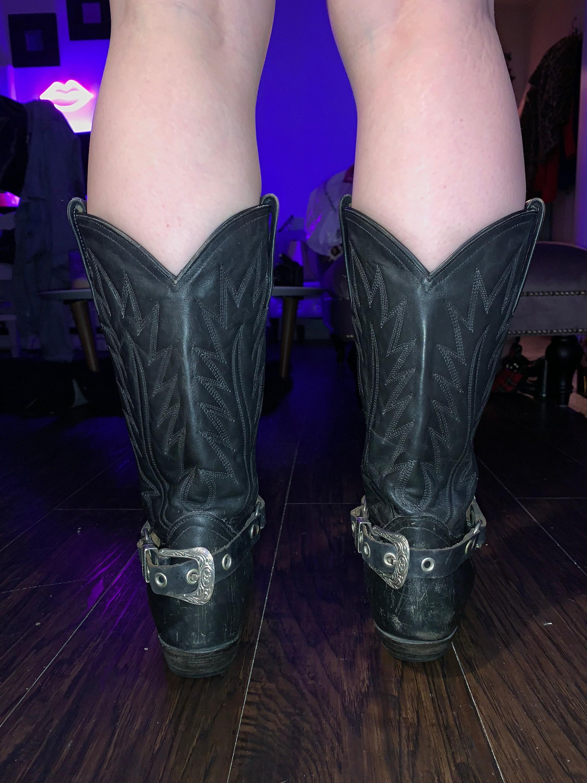 La Gran Bota vintage en cuir véritable cowboy mexicain bottes de cowboy véritable avec embout protecteur en argent réel 23c487