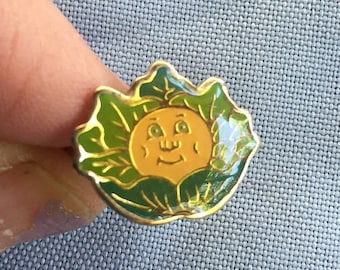 Cabbage Patch Kid,Cabbage Patch Doll,Cabbage Patch Gift,Cabbage Patch Jewelry,Adjustable Ring,80s Ring,80 Jewelry,Vegetable Ring,Enamel Ring