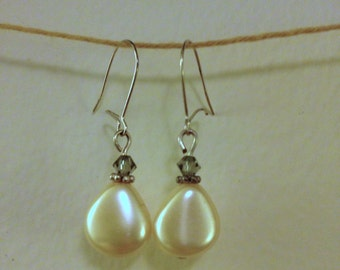 pearl and crystal drops