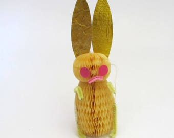 Vintage Easter Bunny Decoration/ Vintage Honeycomb Easter Bunny Rabbit/ Accordion Paper Rabbit
