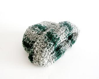 Military Green Camouflage Beanie Slouchy  Hat Crochet Unisex Beanie Man Woman Teens