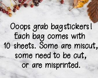 Oops grab bag stickers for Erin Condren