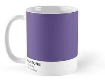 11 Oz, 15 Oz Pantone Ultra Violet Mugs, Pantone Colors Mugs, Ultra Violet Pantone Gift Mugs, Pantone fans Mugs, Pantone Gift Merchandise