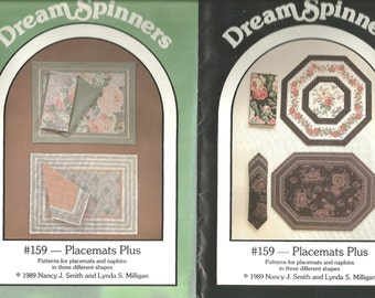 Dream Spinners 159 Placemats Plus napkins sewing pattern uncut dated 1989