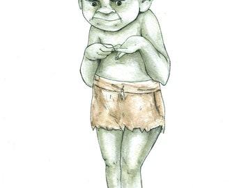 Baby Troll giclee print