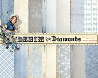 Denim and Diamonds Paper Set