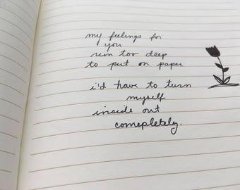 Custom Handwritten Poem