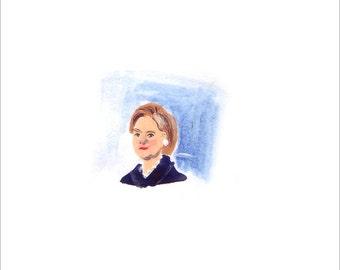 Tiny Hillary Clinton Print