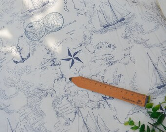 "100x110cm/39""x43"" World Travel World Map World Navigation Cotton Plain Fabric"
