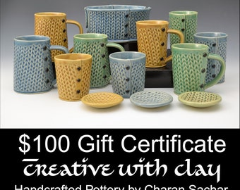 100 Dollar Gift Certificate Creative with Clay