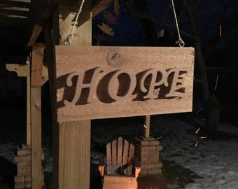Hope - hanging plaque