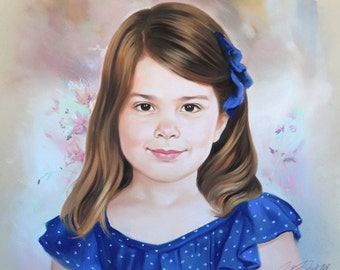 Soft Pastel Portrait Painting of a girl
