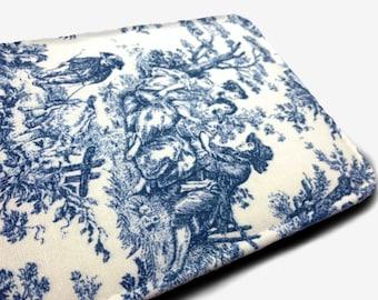 "blue toile Galaxy Tab E 10 Galaxy Tab E 10 case Galaxy Tab E 10 Cover Galaxy Tab E 10 (9.6"") case"
