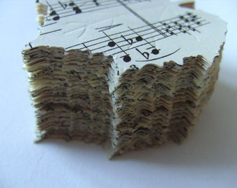 100, LEAFS, Autumn, LARGE, 5cm, leafs,  music sheets,  Wedding, by DoodleDee2 on etsy