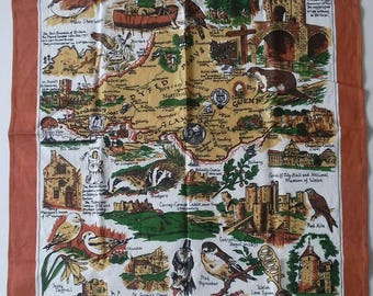 South and Mid Wales cotton tea towel.