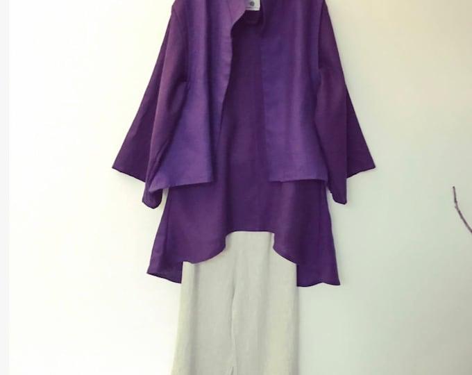 lagenlook linen vest blouse pants / linen outfit for linen party / linen wedding / linen for all sizes / minimalism fashion / eco friendly