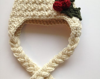 Christmas Holly Berry  Hat