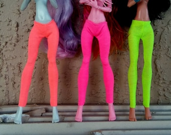 Neon Leggings Made to Fit Bratz, Barbie, Monster, Ever After, High Dolls
