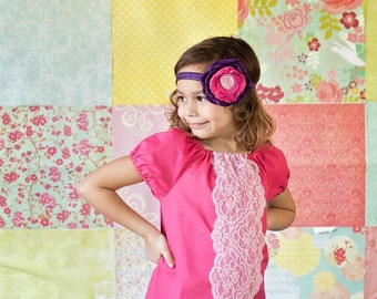 Girls peasant dress - girls dresses - boho dress - boho dress baby - pink dress - bohemian dress - boho flower girl dress - tunic dress