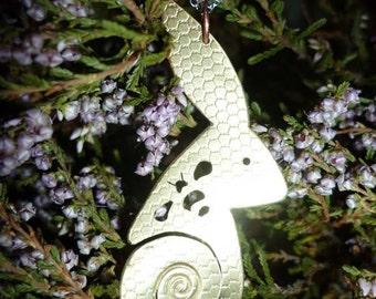 Hare Bee and Honeycomb Spiral Pendant,Jewellery, UK, Free Shipping, Vegan, SquareHare
