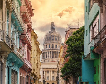 Streets of Havana - Photography Fine Art Print, Old Havana Print, Travel Photography, Cuban Art, Urban Art, Havana Art, Architecture of Cuba