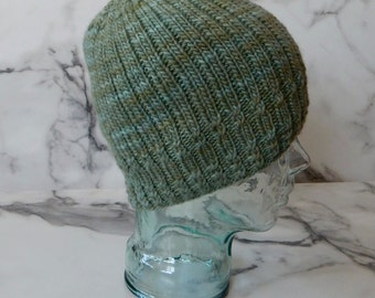Vetiver Knit Hat Pattern/PDF INSTANT Download Pattern/Unisex Adult Beanie Pattern/Knitting Pattern Ribbed Beanie/One Size Fits All
