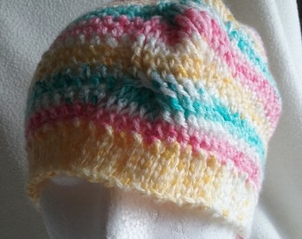 Chunky cable hand crocheted hat. Get ready for those chilly autumn and winter days.