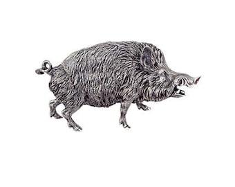 "Silver Jewelry box ""Wild boar"""
