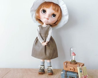 Dollychacha Linen Mori Girl Dress Set