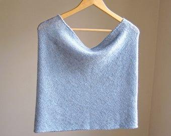 alpaca knit wrap scarf cowl snood in glacier blue