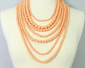 Layered Beaded Necklace Set