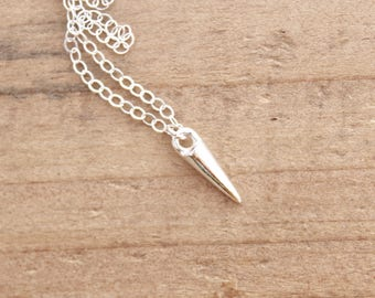 Spike Necklace.  Sterling silver necklace.