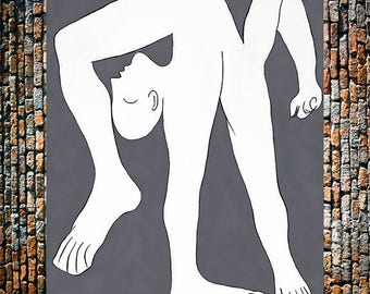 Picasso Acrobat Classic Art Painting Reproduction, Picasso Reproductions, Picasso Art,  Vintage Art, Giclee Art Print, fine Art Reproduction