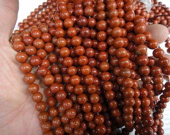 8mm red jasper round beads, natural red jasper beads. 15.5 inch