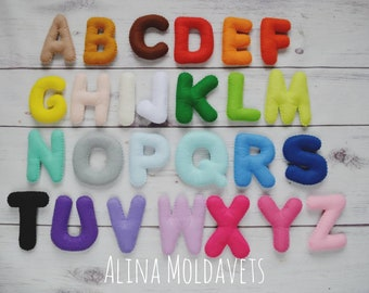 Colorful Felt Alphabet - felt alphabet - felt letters - educational game - preschool - handmade alphabet - stuffed alphabet