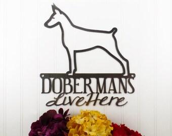 Doberman Metal Sign | Doberman Pinscher | Doberman Wall Art | Doberman Gift | Metal Wall Art | Outdoor Sign | Wall Hanging
