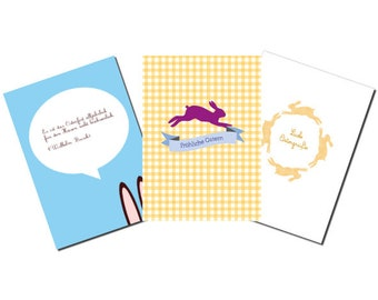 Set of 6 Easter postcards with 3 different motifs