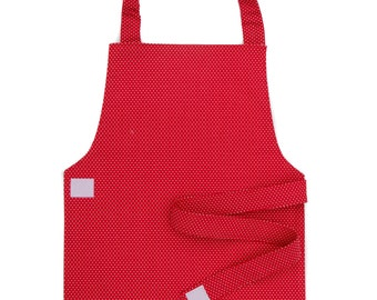 Red Polka Dot Apron - Toddler & Primary