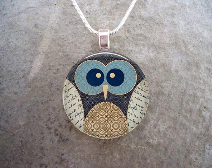 Owl Jewelry - Glass Pendant Necklace - Owl 16